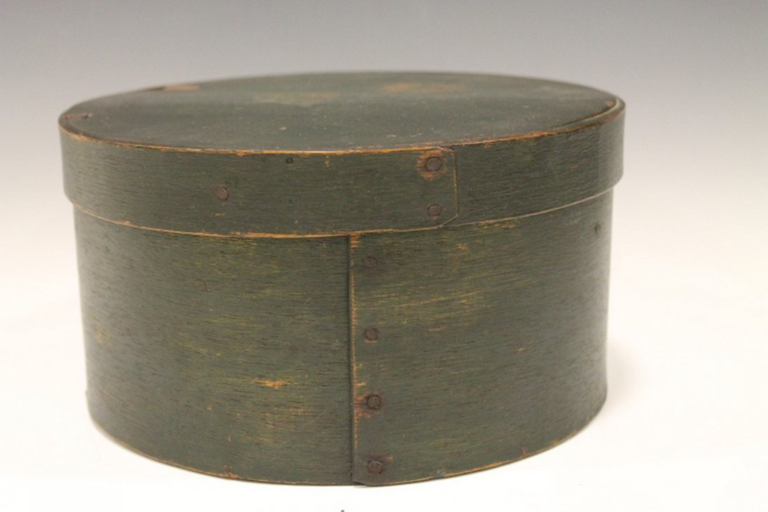 Green Painted Panty Box - Bentwood Construction