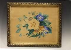 19th C Theorem Floral Bouquet