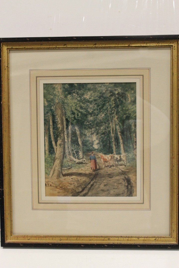 Addison Millar Watercolor (1860-1913) Landscape