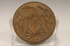 American Eagle & Shield Butter Print