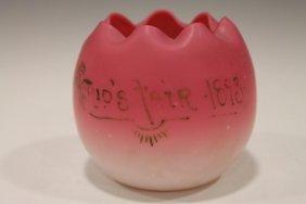 Dated 1893 World's Fair Peachblow Rosebowl