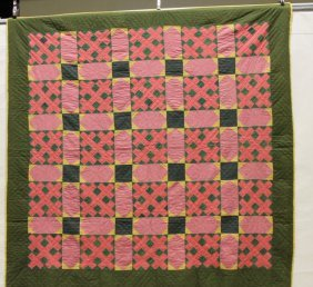 Pennsylvania Washington Pavement Quilt, 19th C