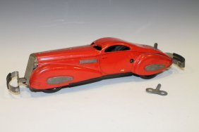 Marx Tin Wind-up Reversible Coupe Toy Car