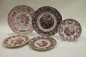 Transferware Plates - Adams Caledonia, Ridgway Mayer