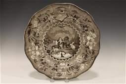 Peace on Earth Transferware Plate 1810-1835
