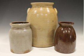 Stoneware Churn & Jars