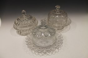 1890s Covered Butter Dishes E A P G