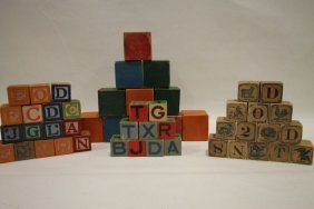 Group Children's Blocks & Sweetheart Soap Crate