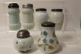 Victorian Sugar Shakers - Opalware / Milk Glass