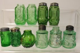 Victorian Glass Salt Shakers - Group Of 10