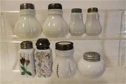 Victorian Opalware Salt Shakers  Group of 8