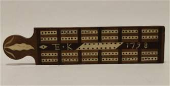 Dated 1798 Cribbage Board