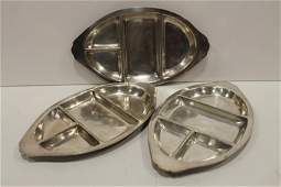 Joseph Heinrich Sterling over Copper Serving Trays