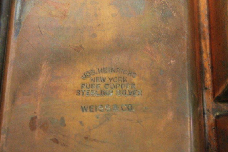 Joseph Heinrich Sterling over Copper Serving Trays - 2