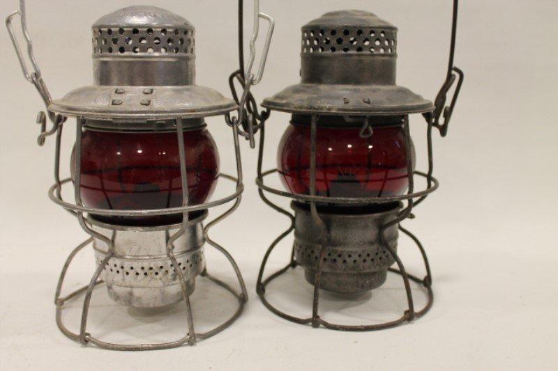 Penn Central & NKP Railroad Lanterns