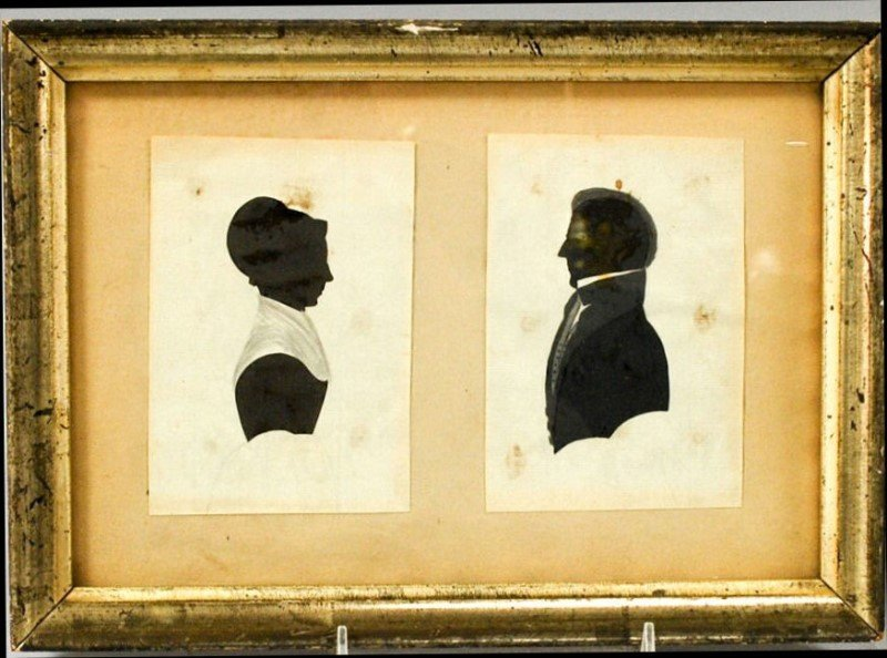 19th C Hollowcut Dbl Silhouettes - Couple