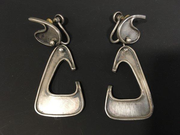Ed Wiener Sterling Dangle Earrings