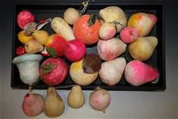 Cotton Spun Christmas Ornaments - Fruit