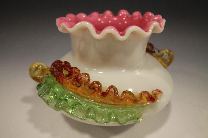 Williams & Stevens Art Glass Rosebowl