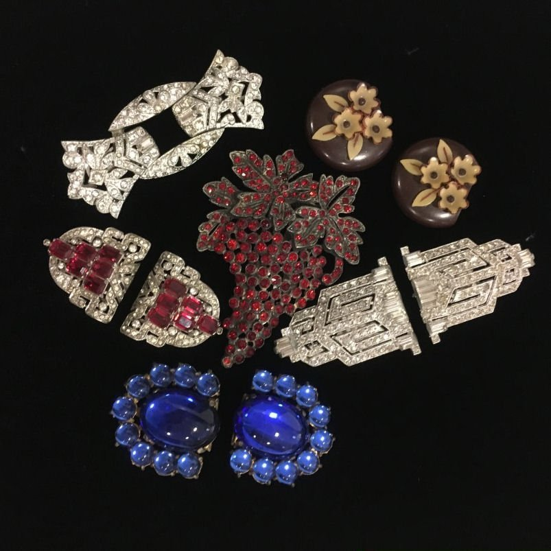 1940s Dress Clips - Coro Duette & Others