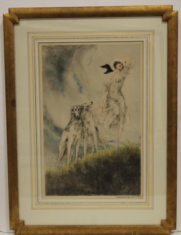 1929 Louis Icart Joy of Life, Windmill Seal