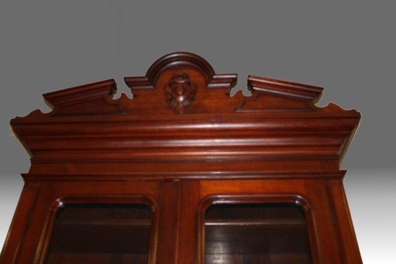 Tall Early 19th C Walnut Bookcase Desk - 2