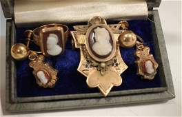 Gold-Filled Cameo Victorian Jewelry