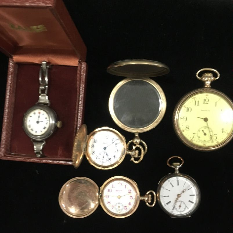 Watches - Illinois, Waltham & Rolex Red 12