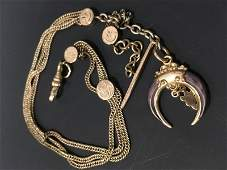 Triple Strand Albert CurbStyle Watch Chain