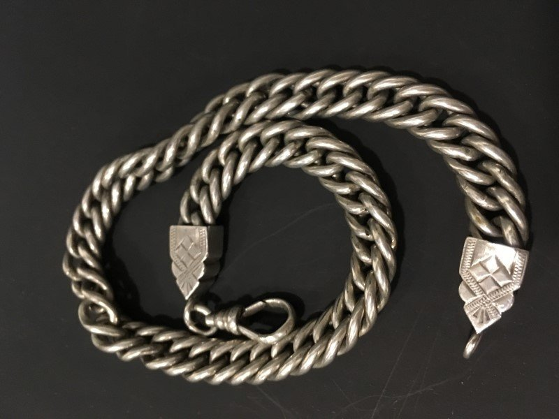 Sterling Pocket Watch Chain - Marked