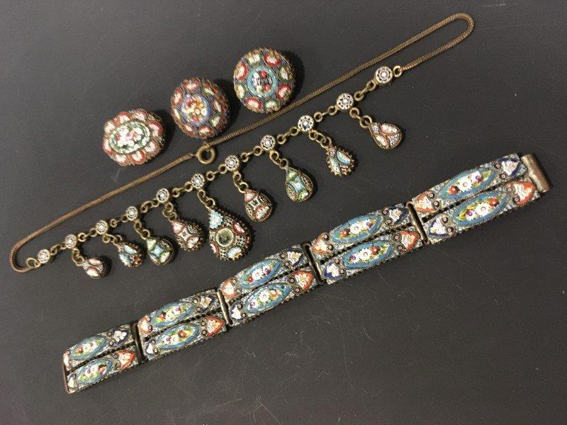 Mosaic Jewelry - Necklace, Pins, Bracelet