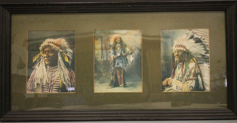 3-Sectioned Frame of Famous Indian Chiefs