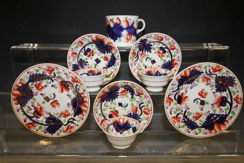 Partial Set Child's Gaudy Welsh Tea Set