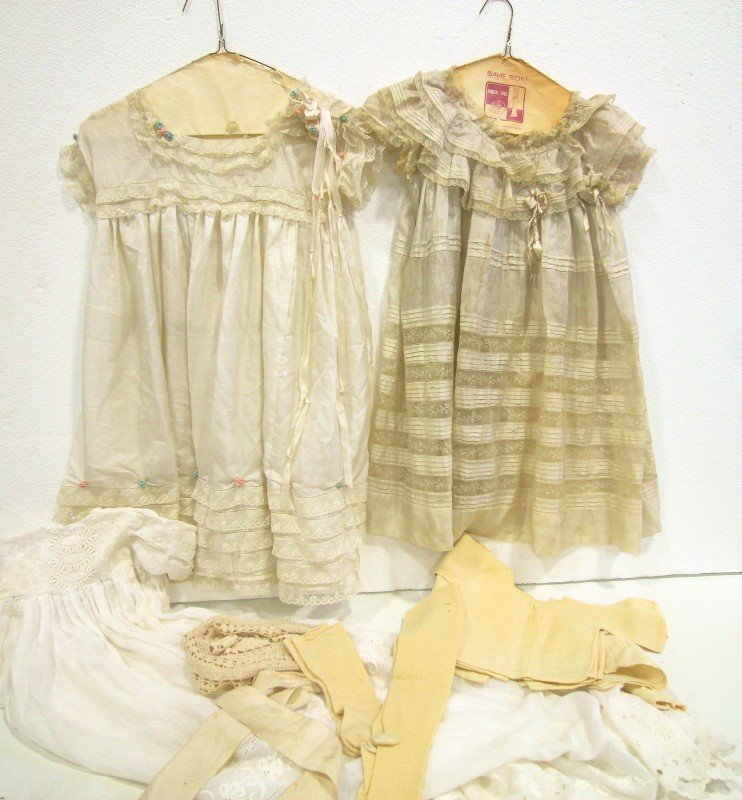 Victorian Children's Silk Dresses & More