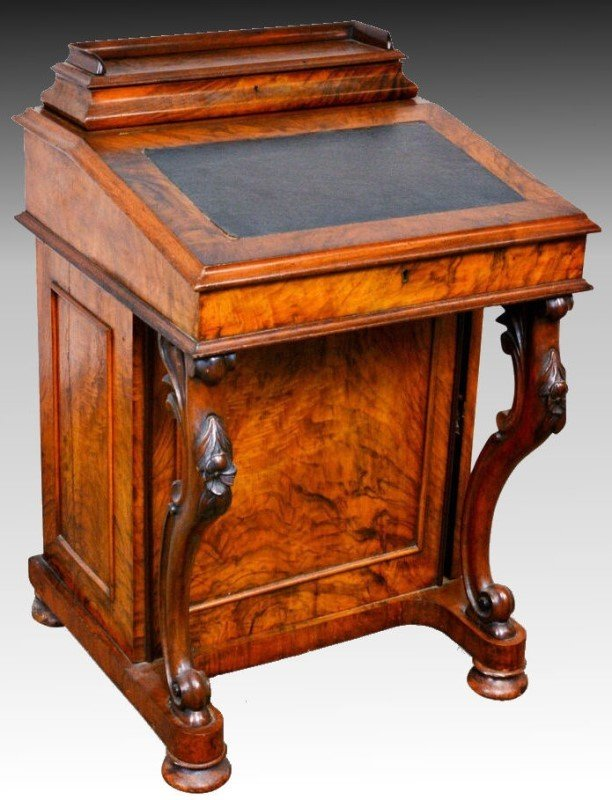 Rosewood Davenport Desk & Tiger Maple