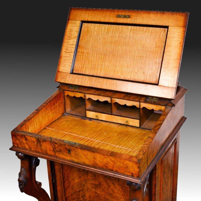 Rosewood Davenport Desk & Tiger Maple - 2
