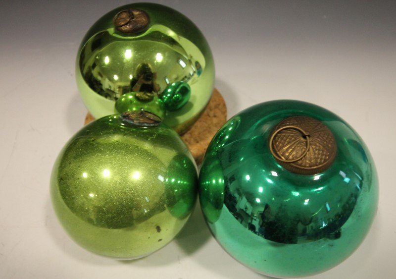 Large Green Kugel Ornaments