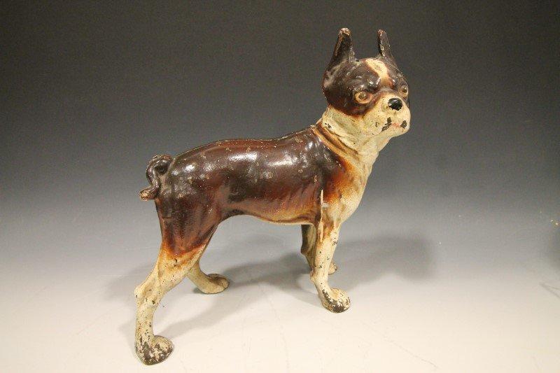 Bulldog Doorstop - Original Brown Paint