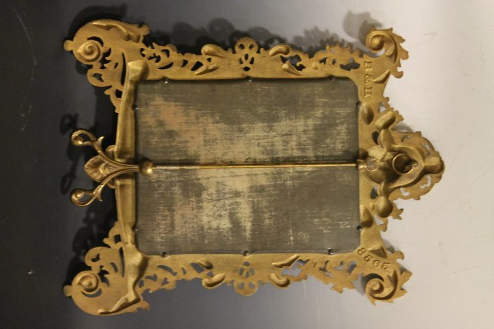 Lg Cast Brass Bradley & Hubbard Dresser Mirror - Ornate - 2
