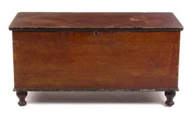 19th C Painted Blanket Chest New England