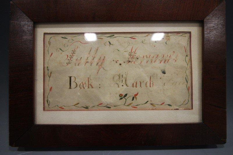 1800 Hand-Colored Bookplate