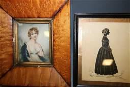 19th C Portrait  Silhouette  Women