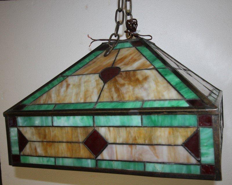 Art Deco Leaded Lamp Hearts & Diamonds