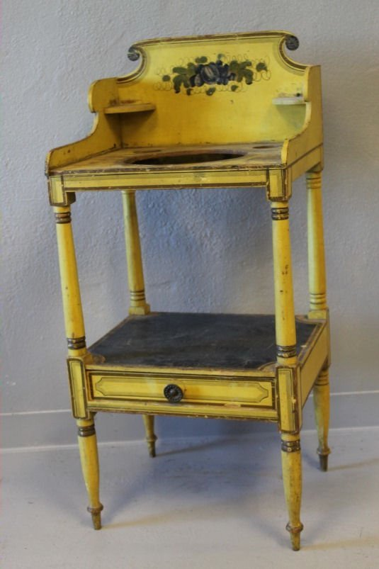 Federal Period Washstand - Mustard Paint