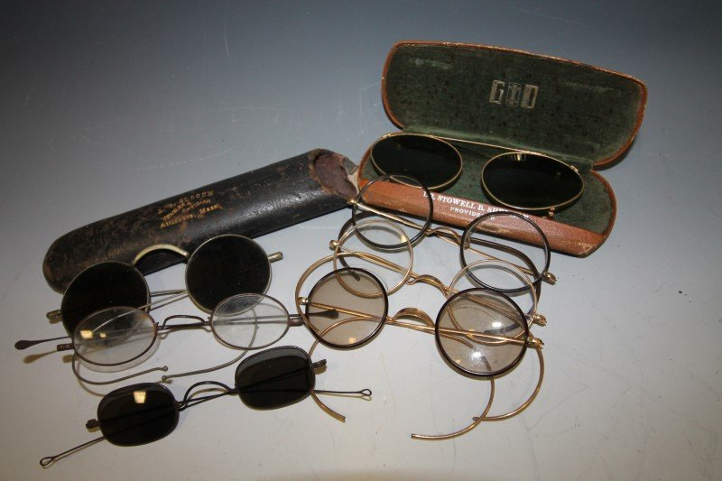Early 19th C Colored Spectacles & Others