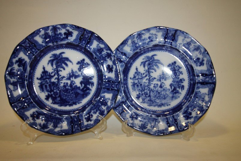 Pair Kyber Flow Blue Dinner Plates