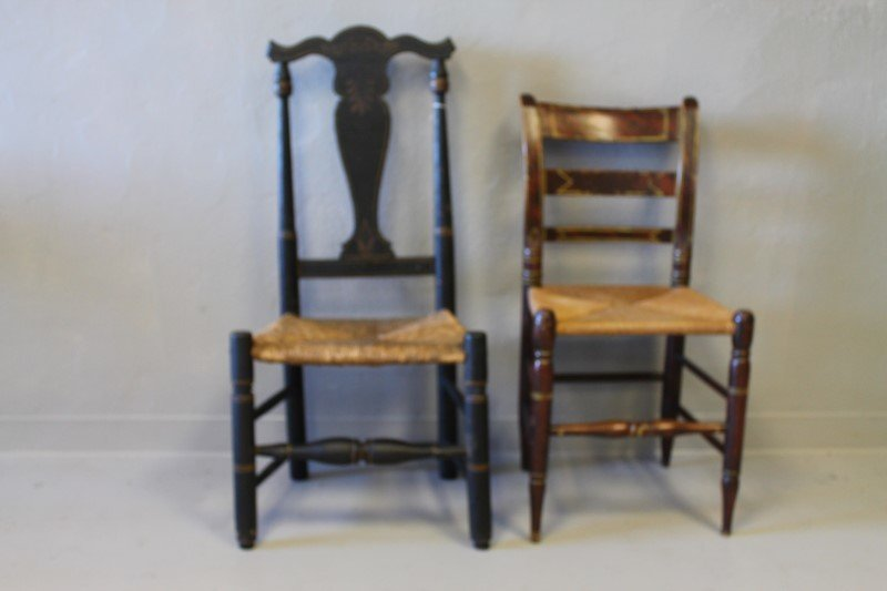 18th C Queen Ann Side Chair O/Paint Other