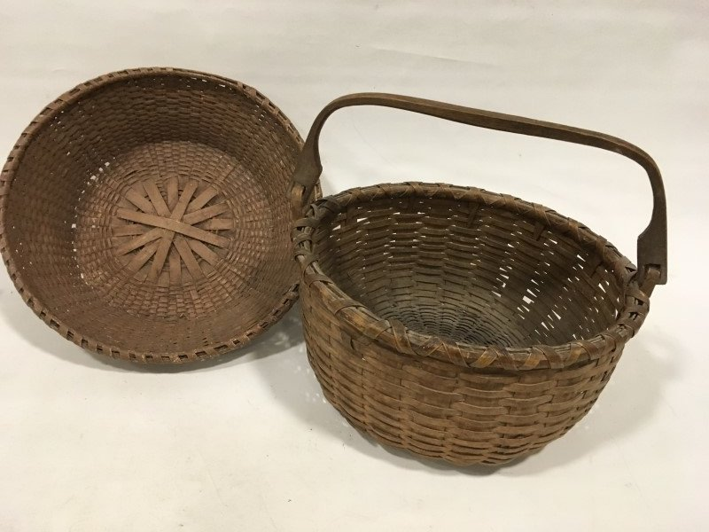 Lot of 2 Large Antique Baskets