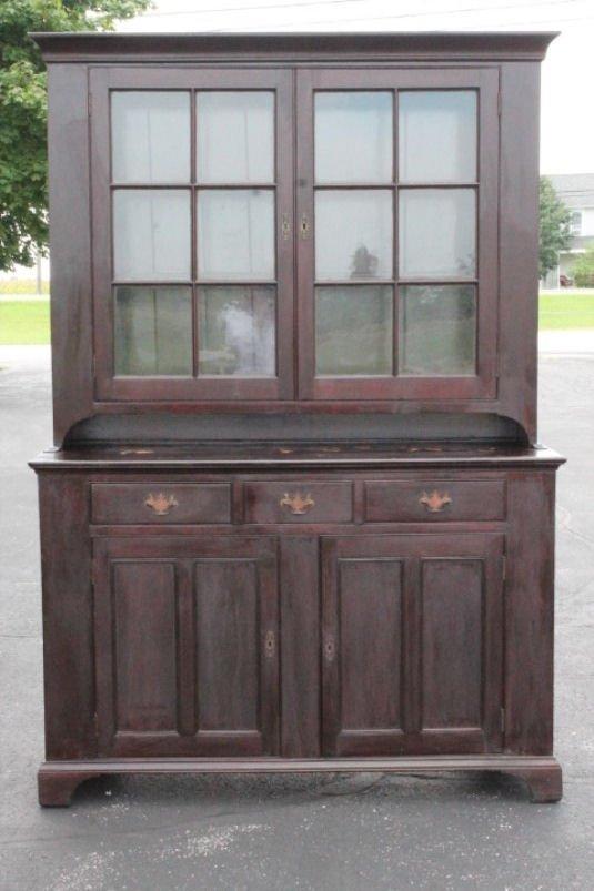 1830s New England Stepback Cupboard