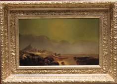 Painting of New England Coastal Indian Camp